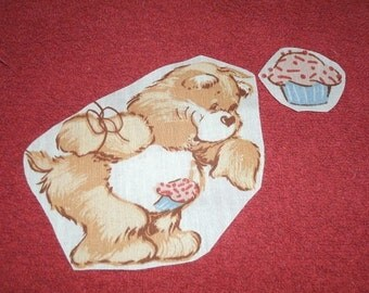 Cupcake Carebear iron on applique