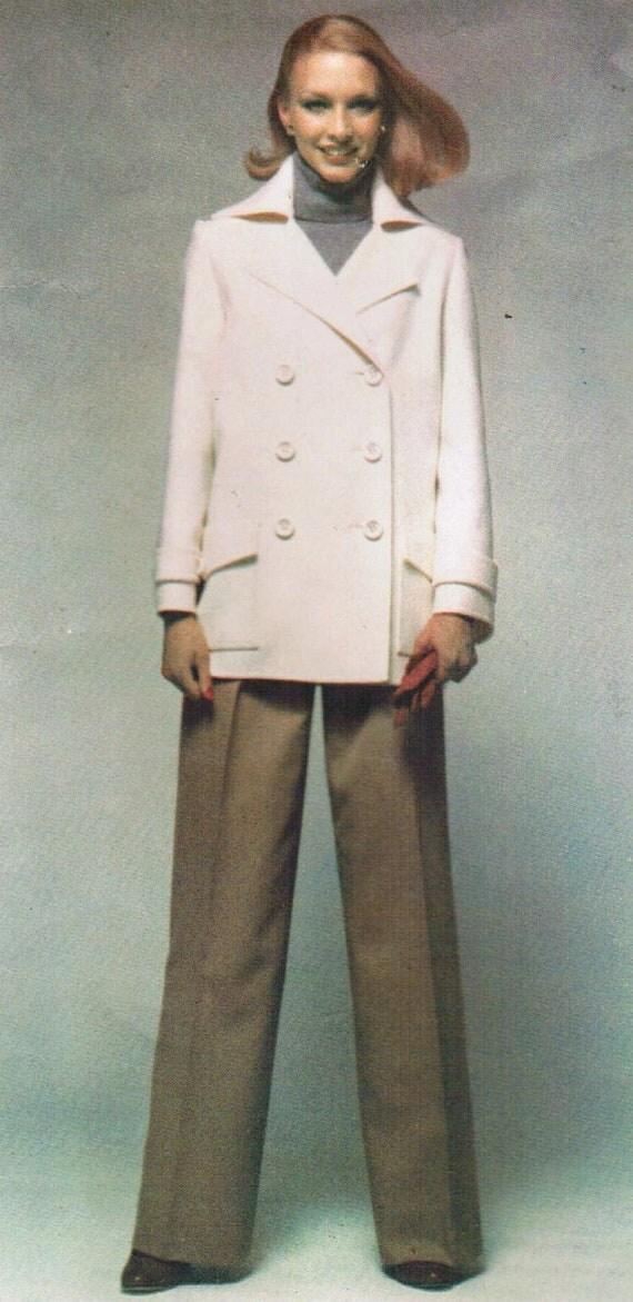 1960s Vogue 1487 Vintage Sewing Pattern Paris Original Pierre Balmain Misses' Jacket, Skirt, and Pants Size 12 Bust 34
