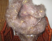 Alpaca Silk Merino spinning batt 'Alpaca Zinnia' 3.5 oz