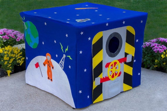 Outer Space Card Table Playhouse, Personalized, Custom Order