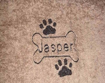 Personalized Dog Puppy Pet Bath Grooming Bathing Towel