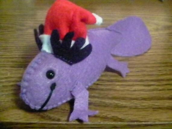 Custom Felt Axolotl Plush- Reserved for merwen