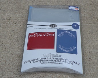 Sizzix Embossing Folders, Mini Banners Set, 657982