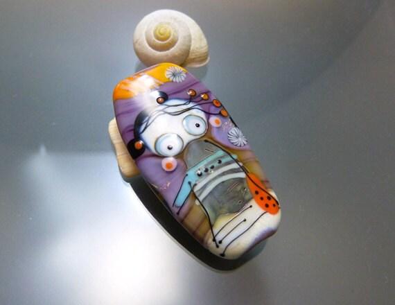 "Melanie Moertel Lampwork Beads - Handmade FAIRY glass bead - ""Twins"""