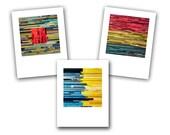 Set of 5 Stripes Notecards