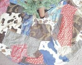 Rodeo Cowboy Christmas Custom Holiday Crazy Quilt Patchwork Western Tree Skirt FREE PERSONALIZATION