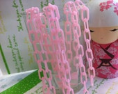 Plastic chains Light Pink Link  ( 13mm x 7mm)  2pcs x 16inches