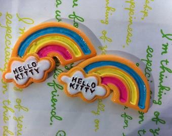 SALE Big Rainbow  Cookies 2pcs 46mm x 25mm