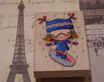 Extreme Mimi wood mounted Penny Black Rubber Stamp
