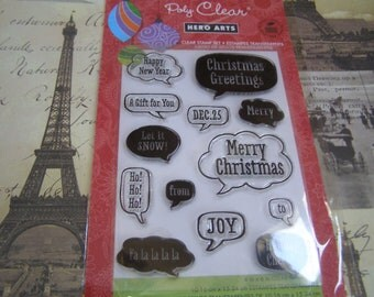 Holiday Conversation Hero Arts Clear Unmounted Stamps - 13 pieces