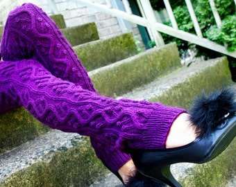 Knitting Pattern- Long Cabled Legwarmers