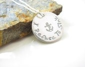 I Refuse To Sink - Hand Stamped, Sterling Necklace - Mantra Necklace