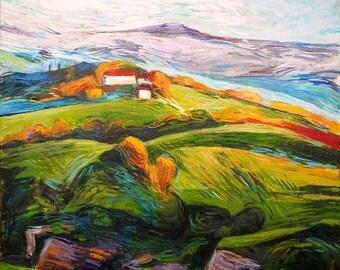 """Italian Villa- Original painting by Mark Kielkucki -impressionism 15x20"""""""