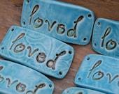 Loved Pottery Ceramic Bracelet Cuff Bead