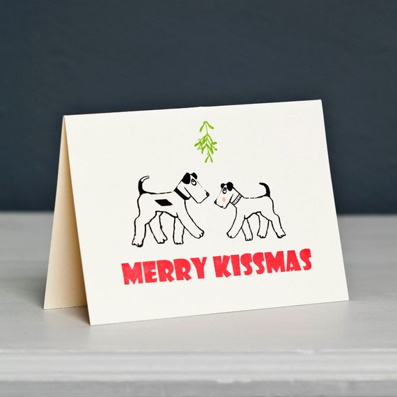 Terrier Dogs Christmas Card