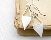 Sterling Silver  Geometric Earrings - handmade solid sterling silver dangle geometric earrings, Etsy