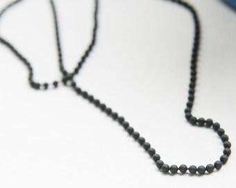 3 Feet Matte Black Plated Brass Base Ball Chains - 2mm (425C07)