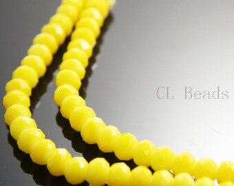 30pcs Donut Neon Crystal - Yellow Neon 6x8mm (602)