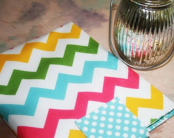 Kindle Paperwhite sleeve, Kindle Fire cover,Ereader Accessories, Nook,Gadget Cases and Covers, Ereader Case in Cheery Chevron