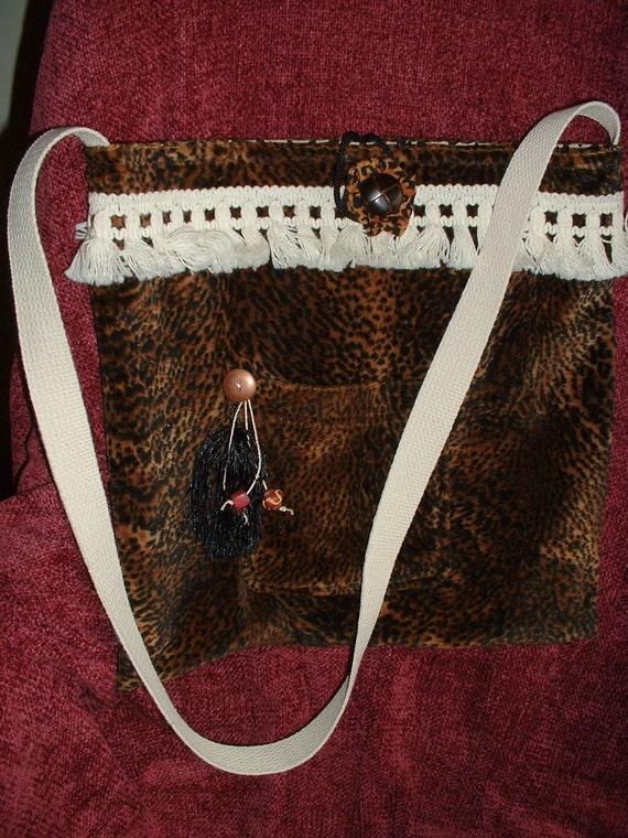 Animal Print Shoulder Bag, Walk on the Wild Side BoHo Tote, Purse, Sale