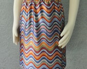 Zigzag Jersey Print Colorful Skirt Or Top Great For Summer