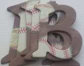 """BASEBALL - Chipboard  Letters  - Tag / Note Die Cuts -  1.5"""" inch Letters - 52 Piece Set"""