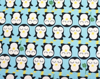 Penguin print last piece 66 cm by 106 cm 25.9 by 42 inches  nc45