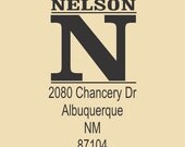 Nelson Traditional Custom Rubber Stamp Design R035