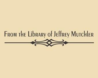 Library of Jeffrey Mutchler Unique Custom Rubber Stamp Design R043