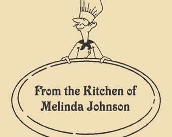 It's A Chef - From The Kitchen Of Unique Custom Rubber Stamp R045