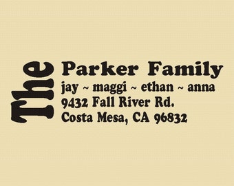 The Parkers - Custom Rubber Stamp Design R003
