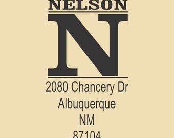 Nelson Traditional Custom Rubber Stamp Design R035
