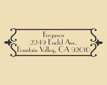Ferguson Designer Return Address Rubber Stamp R032