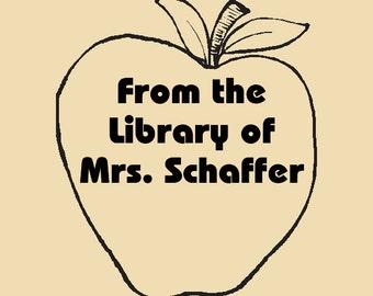 Custom Rubber Stamp Library of Mrs. Schaffer Design R057