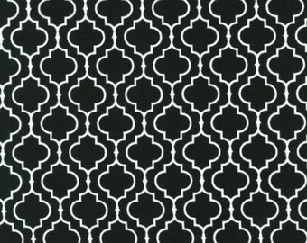 Fat Quarter -Metro Living Geometric Print in BLACK by Robert Kaufman Fabrics EIP-11018-2 Black