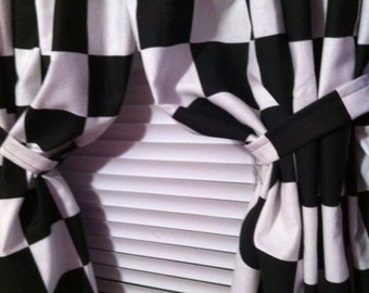 Nascar Checkered Flag Valance For Kids Room Made To Order