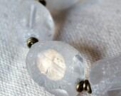 Chunky Glass and Brass Bracelet