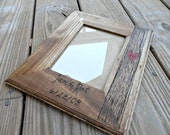 Tree Trunk - Personalized Wedding or Anniversary Picture Frame