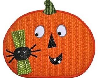 Clearance PATTERN Halloween Fun Pumpkin Placemat and Napkin