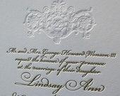 Letterpress Wedding Invitation, Wedding Invitation, Wedding invitations, Gold Wedding Invitation, Wedding Invitations, Gold Invitation