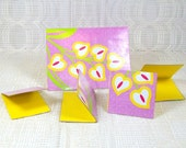 Pink and Yellow Blank Cards