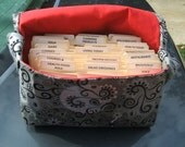 Coupon Organizer Holder Mega Large Grey Silver Magical Fabric Red Lining