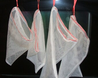 Set of 4 Produce Bags Poly Mesh  Super Strong