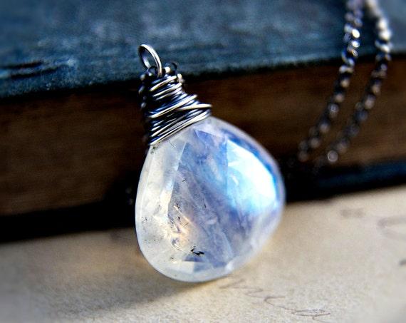 Moonstone Jewelry Necklace Silver White PoleStar