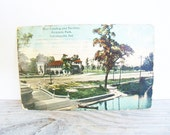 Antique Photo Postcard Riverside Park Indianapolis Ind 1913
