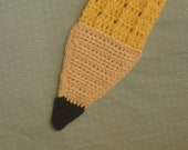 Pencil Scarf, handmade crochet cotton scarf for adult