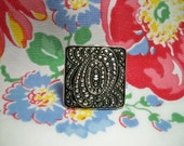 Vintage 1920s Art Deco Square Marcasite Shoe Clip Scarf Dress