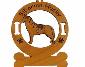 3975 Siberian Husky Standing Personalized Dog Ornament