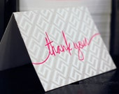Letterpressed Neon Note BOX SET - Thank you