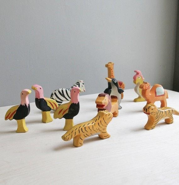 vintage circus animal set / made in japan